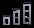 Hikvision DS-KD-ACF3 (szerelőkeret süllyesztéshez - 3 modulos)