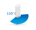Ubiquiti Access Point WiFi AC450 kültéri - airMAX LiteBeam Sector (450Mbps@5GHz; 1Gbps; 16dBi; 24V PoE; 120°)