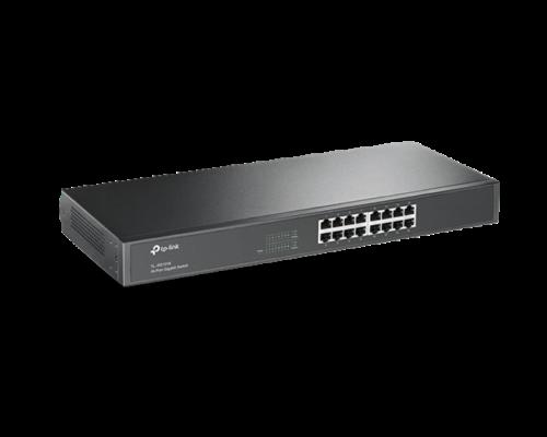 TP-Link Switch  -  (16 port, 1000Mbps; fém ház, rackbe szerelhető)