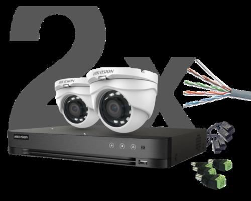 HIKVISION - 2 kamerás THD Dóm Szett - 25 méter (2 megapixel)