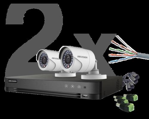 HIKVISION - 2 kamerás THD Szett - 20 méter (2 megapixel)