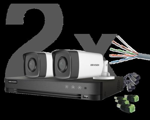 HIKVISION - 2 kamerás THD Szett - 40 méter (2 megapixel)