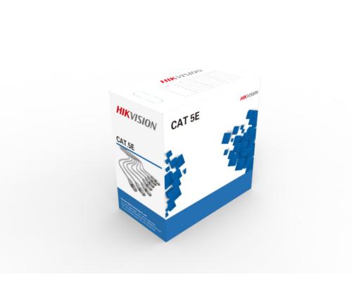 Hikvision Cat5e UTP fali kábel (oxigénmentes réz, szürke, 305m) TÖMÖR RÉZ ÉRPÁR - DS-1LN5E-E/E