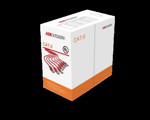 Hikvision Cat6 UTP fali kábel, 305 m - PVC, AWG23, TÖMÖR RÉZ ÉRPÁR - DS-1LN6-UU