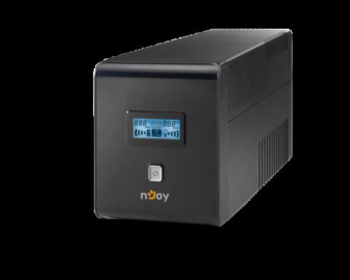 NJOY Szünetmentes 1000VA - Isis 1000L (4 Schuko, line-interaktív, RJ45/RJ11 védelem, USB, RS-232, LCD kijelző, fekete)