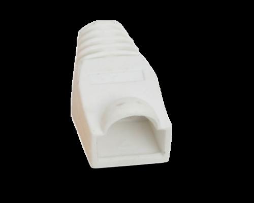 Törésgátló RJ45 csatlakozóhoz, fehér, 100db/csomag