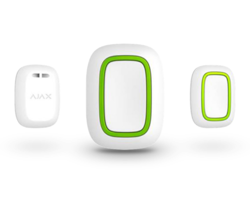 AJAX_Button_WH - Vezeték nélküli vezérlő és pánik gomb fehér (fehér)