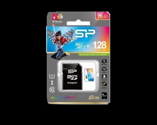 Silicon Power MicroSD kártya - 128GB - 75 MB/S
